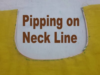 How to make perfect bias piping and dori -How to make Piping on Neckline-hindi video by sangie fbc