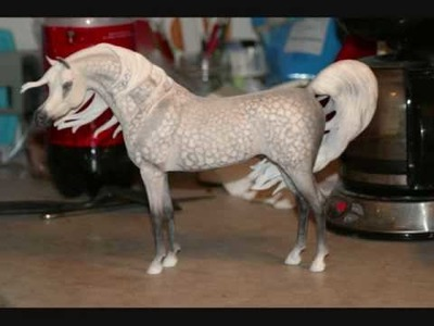 How to pastel a cm dapple gray model horse