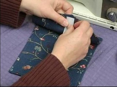 How to Sew a Zipper Backpack : How Quilt a Pocket Flap on a Zipper Backpack