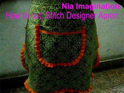 How to stitch designer half Apron