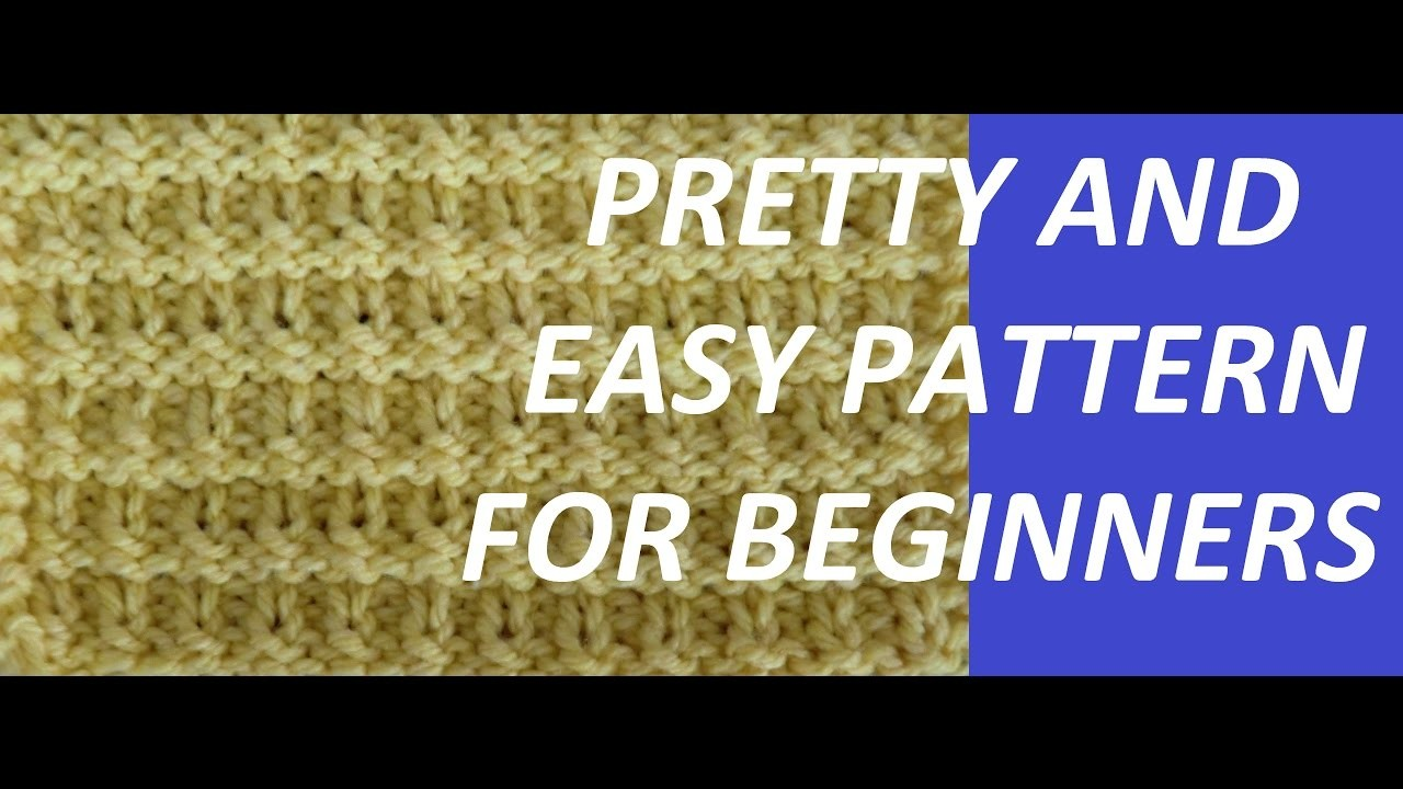 Knitimg Pattern *PRETTY AND EASY PATTERN FOR BEGINNERS *