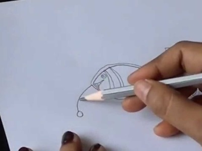 Lesson 3: (हिन्दी)How to draw fish in madhubani paintings