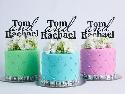 Mini Quilted Individual Cakes Tutorial- Rosie's Dessert Spot