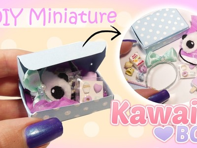 Miniature Kawaii Subscription Box Tutorial. DIY Dolls.Dollhouse