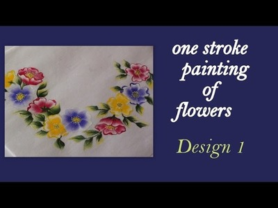 One stroke painting of flowers - tutorial 17