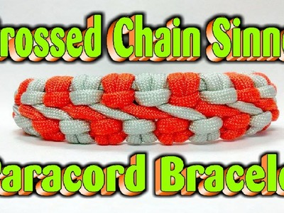 Paracord How To Make A Crossed Chain Sinnet Bracelet With Buckles