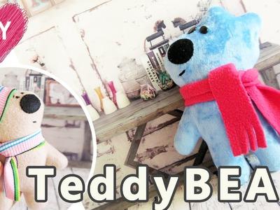 Plashie Teddy BEAR tutorial. Free teddy bear pattern.