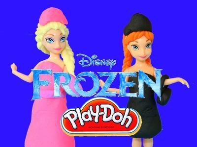 Play Doh Frozen Dolls Magic Clip Elsa and Anna Disney Frozen Princess Play-Doh Dresses