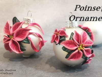 Poinsettia Ornaments-Polymer Clay Christmas Ornaments Series-2016