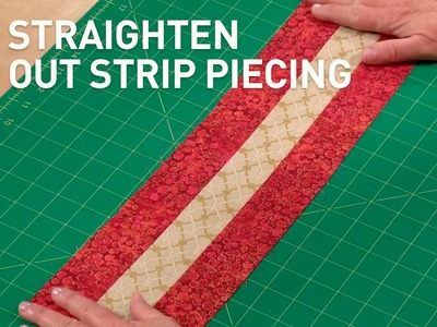 Quilt Piecing Help (Straight Strip Piecing) | Quilting Tutorial with Laura Nownes