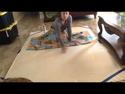 Quilting part 7 Jaclyn how to put on batting