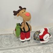 Santa Deer Amigurumi Pattern for Christmas - PDF PATTERN