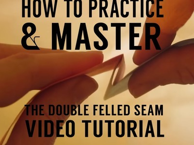 The Double Felled Seam: Sewing a Seam for Awnings, & Umbrellas