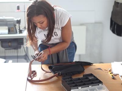 The Making Of… Black Leather Minx Shoulder Bag By Yardena Silva