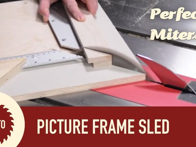 The Ultimate Picture Frame Sled with Micro Jig Zero Play Guide Bar