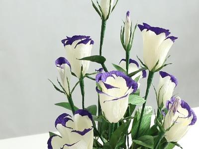 15.2: Làm hoa LAN TƯỜNG bằng giấy nhún - How to make Lisianthus paper flower