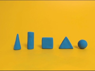 3D Plasticine Basic Shapes - How to make  a clay Basic Shapes