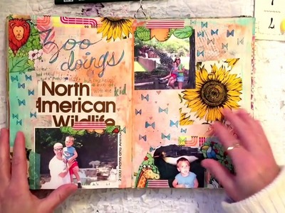 Altered Book Journal: No Rules Scrapbooking Part 2