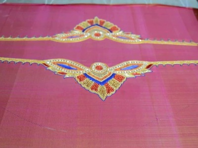 Angalakruthi Blouse hand embroidery designs