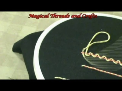 Back Stitch - How to do Basic Hand Embroidery Stitches in Malayalam