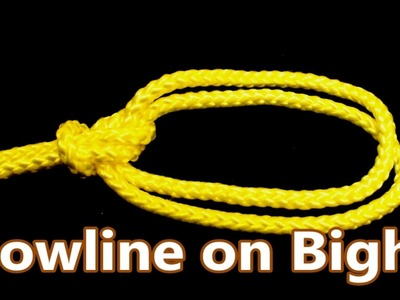 Bowline on Bight Knot in Details   Encyclopedia of Knots Tutorial   Do it Right