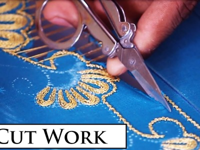 Cut Work Making HD Video - Part 1 of 2 | Indian Hand Embroidery