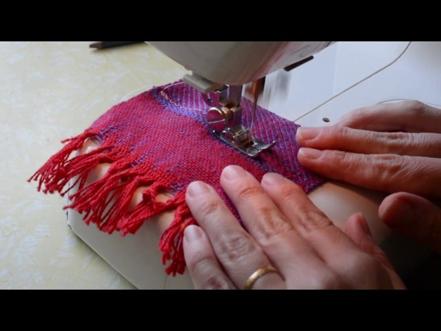 Cutting hand woven cloth, part 2