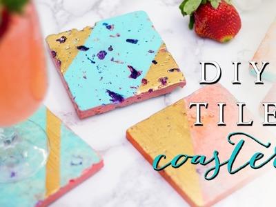 DIY Tile Coasters! Easy & Affordable!