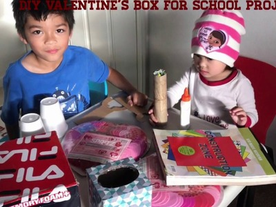 DIY Valentine's Box for School Project.ShaunAndKayla Toys World