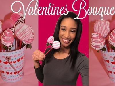 DIY Valentine's Day Dessert: Dipped Strawberries. Cookie Pops