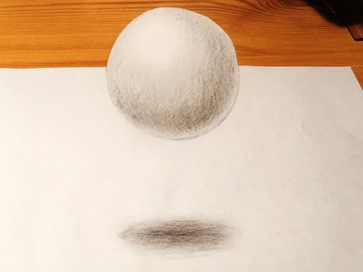 Drawing a 3D Anamorphic Floating, Levitating Ball (Trick Art)