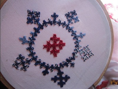 Hand Embroidery Designs | Gujrati stitch for cushion cover |  Stitch and Flowe-75