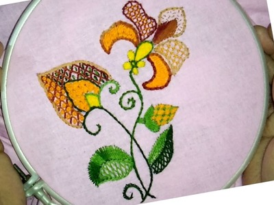 Hand embroidery easy and beautiful basic stitches combination