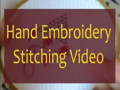 Hand embroidery stitching for beginners | hand embroidery stitches design