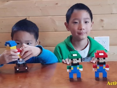How to build a simple Lego 3D Mario and Luigi (Nintendo)