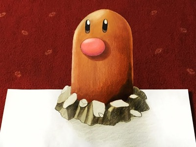 How to Draw Diglett (Pokemon) 3D Artistic Drawing
