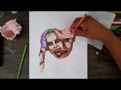 How to draw Joker Suicide squad - 3D art