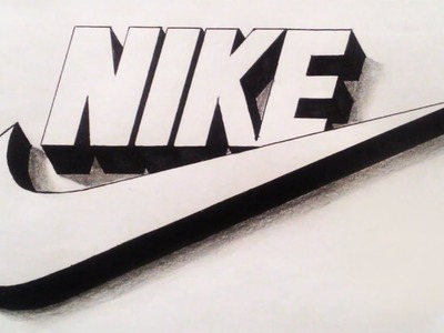 How To Draw Nike Logo 3D Step By Step Drawing ✔