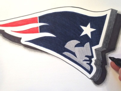 How to Draw the Patriots Logo in 3D