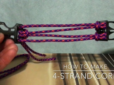 "How to make ""4-Strand Core"" for any Paracord Bracelet"