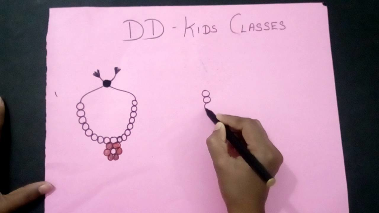 How to make a jewellery. Simple jewelry drawing for kids.
