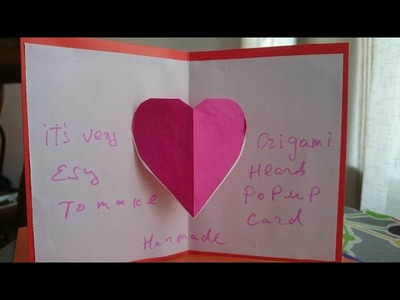 How To Make A Paper Valentine 3D Heart Pop Up Card Easy