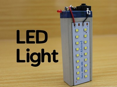 How to make a Rechargeable LED Light - Powerful - Easy | Little Efforts-DIY