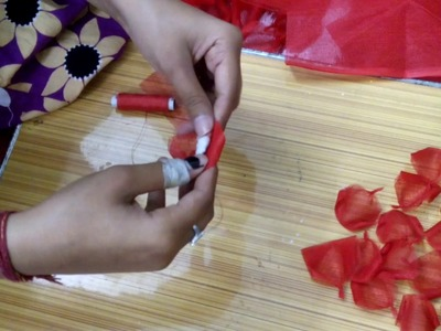 How to make organdy flowers