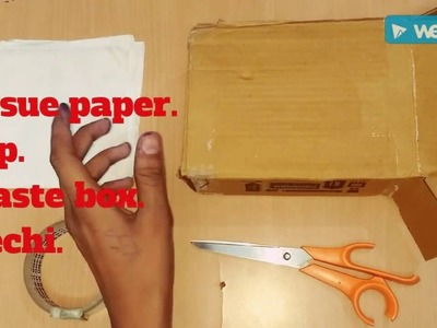 How to make tissue paper box by waste box . ((Mr hacker))