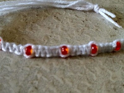 How to make woolen Bracelet at home.