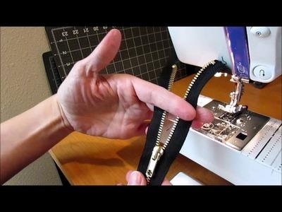 How to Shorten a Separating Zipper