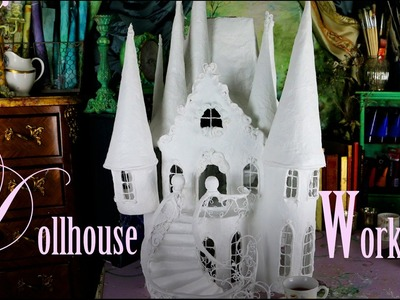 Learn how to make a Dollhouse in papier mâché and paper  - Dollhouse Workshop