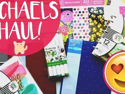 Michaels Haul   Scrapbooking Planner and Art Goodies!