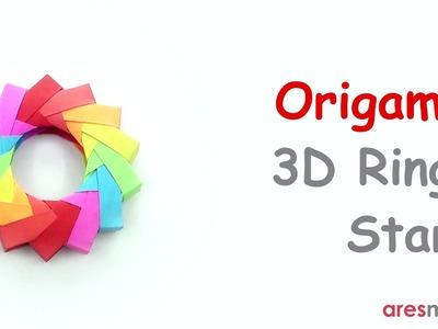 Origami 3D Ring - Star (easy - modular)
